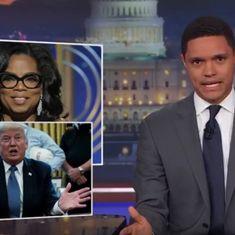 Watch: How Stephen Colbert and Noah Trevor feel about the 'Oprah 2020' speech at the Golden Globes