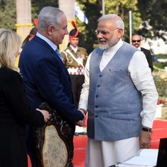 'We look forward to more #hugplomacy': Congress mocks Modi with video as Israel PM arrives in India