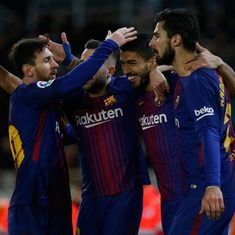 Suarez scores brace as Barcelona restore nine-point lead in La Liga, beat Sociedad 4-2