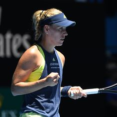 Despite semi-final defeat, feisty Angelique Kerber happy to be back on court