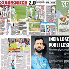 'India lose, Kohli loses it': How the Indian press reacted to series defeat in South Africa
