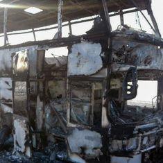 Kazakhstan: At least 52 people dead in bus fire