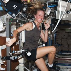 Video: How do astronauts run and exercise while in outer space with zero gravity?