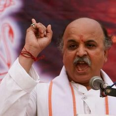 Amid buzz of RSS wanting Togadia removed from post, aides say he is working to split the Sangh