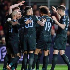 Manchester City reach first cup final under Guardiola, beat Bristol City 3-2 in 2nd leg