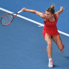 Simona Halep reaches first Australian Open final after beating Kerber in thrilling battle