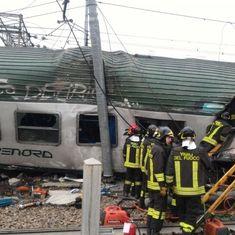 Italy: Four dead, 10 injured as train derails near Milan