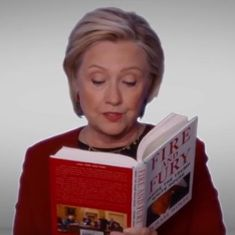 Hillary Clinton read from 'Fire and Fury' at the Grammys. She might have won if the category existed