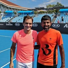 Fun but focused, enjoyable but intense: Bopanna on his training session with Federer