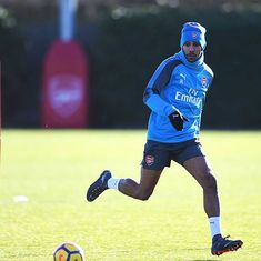 Arsenal's new signing Pierre-Emerick Aubameyang a doubt for Everton game due to illness