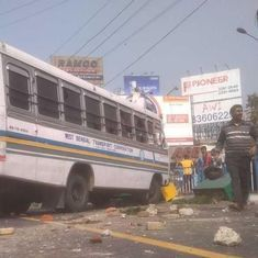 Kolkata: Protestors set ablaze five buses, disrupt traffic after two students are run over