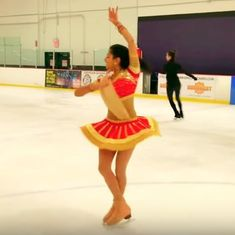 'Ghoomar' on ice: Watch this figure-skater's beautiful choreography to the 'Padmaavat' song