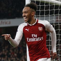 Gunners goal glut: Aubameyang's debut goal, Ramsey hat-trick help Arsenal crush Everton