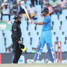 With India needing 2 runs for victory, the umpires called for lunch and Twitter simply lost it