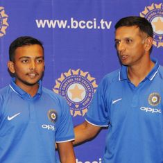 'He's a legend but we could talk to him like a friend': Prithvi Shaw on coach Rahul Dravid