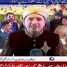Watch: This Pakistani reporter covered his own wedding on TV, and even interviewed the bride