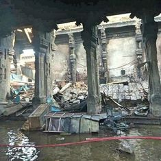 Fire in Madurai's Meenakshi temple sparks demand for shops to be evicted from complex