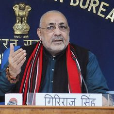 Bihar: Union minister Giriraj Singh, 32 others booked in alleged land grabbing case