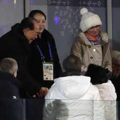 South Korean president meets North Korean leader Kim Jong-un's sister at the Winter Olympics