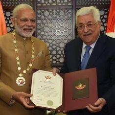 भारत फिलिस्तीन के हितों का हमेशा खास ख्याल रखेगा : नरेंद्र मोदी
