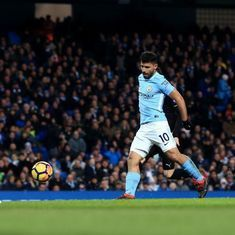 Aguero hits four in the second half to power Manchester City's rout of Leicester