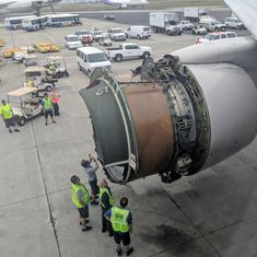 Watch: United Airlines flight forced to land after engine's cover comes off over the Pacific
