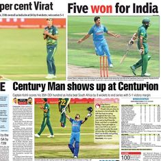 'Five won for India': How the Indian press reacted to ODI series win over South Africa
