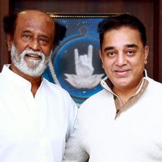 Actor Kamal Haasan meets Rajinikanth in Chennai, invites him to political party's launch in Madurai