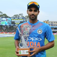Changing pace, slower balls key to India's win in first T20I, says Bhuvneshwar Kumar