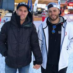 'Love is love': Twitter celebrates Skier Gus Kenworthy's televised gay kiss at Winter Olympics
