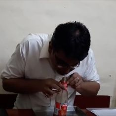 Watch: This man from Mumbai set a world record for the fastest time for drinking a bottle of ketchup