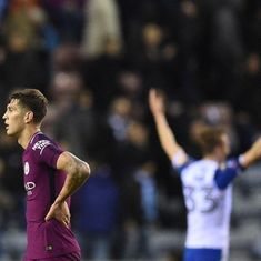 FA Cup: Wigan's 1-0 victory ends 10-man Manchester City's hopes of a quadruple