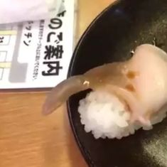 Watch: What do you do if your sushi dinner comes to life and waves at you?