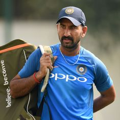 Cheteshwar Pujara turns up for a club game in Chennai at R Ashwin's request, scores a ton