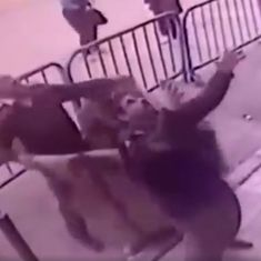Caught on camera: This police officer saved a boy who fell from the third floor balcony in Egypt