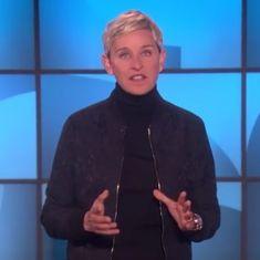 Watch: Ellen DeGeneres hits back at Trump about his remarks against her friend Oprah Winfrey