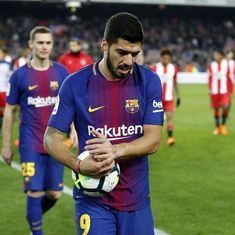 Suarez's hat-trick steers Barca to thumping 6-1 win over Girona, Real Madrid trounce Alaves