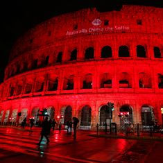 Rome's Colosseum illuminated red to protest Pakistan's blasphemy law