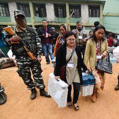मेघालय और नगालैंड में वोटिंग जारी