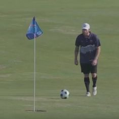 Watch: Here's what happens when you combine football and golf into a single sport