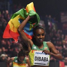Genzebe Dibaba wins third consecutive 3000 metre title at World Indoor Championships