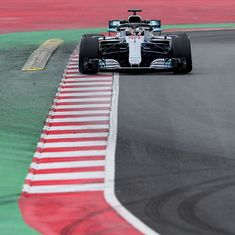 Mercedes's new car feels like last year's big sister: Hamilton after fastest testing time