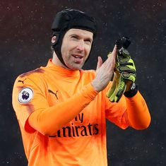 Europa League: Petr Cech hopes for winning farewell in Baku at expense of former club Chelsea
