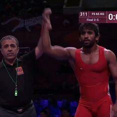 Bajrang Punia, Vinod Kumar win bronze medals at Asian Wrestling Championship