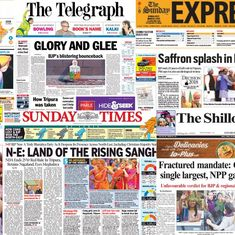 'Land of the rising Sangh' and 'Saffron splash': What front pages said about the North East results