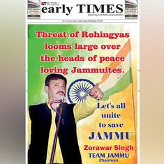 'Rohingya refugees are a ticking time bomb': Ads in Jammu newspapers call for their deportation
