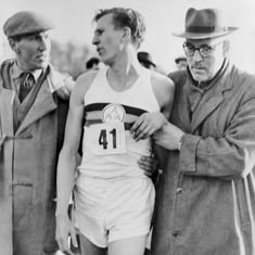 Watch: When Bannister became the first man to run a mile in under four minutes