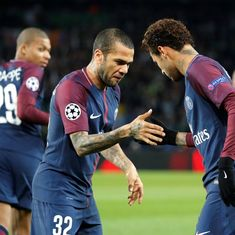 Without Neymar, PSG have to 'get up' and move on, says teammate Dani Alves