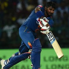 Kusal Perera's carnage overshadowed Dhawan's counter-attack in Sri Lanka's 5-wicket win