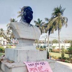 लेनिन और पेरियार के बाद अब श्यामा प्रसाद मुखर्जी की मूर्ति पर हमला, प्रधानमंत्री ने निंदा की